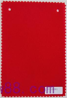 大红水刺底绒布