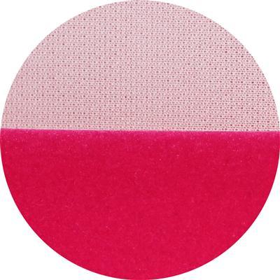玫红色针织底长毛绒布