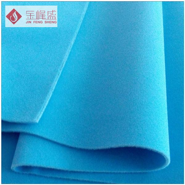天蓝色棉布底长毛双面植绒布(D4-SC0406241)