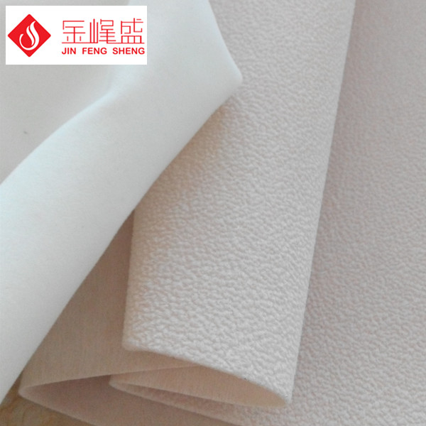 米白色珠粒植绒布