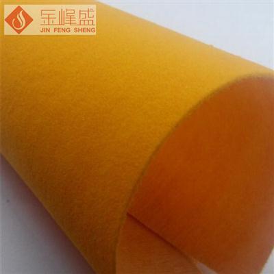 桔黄色水刺长毛植绒布(F1-C407032)