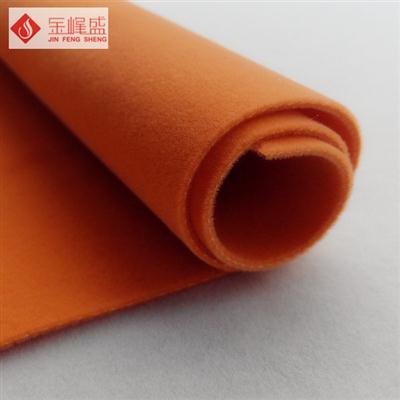 桔黄色棉布底双面长毛植绒布(F04.P4.0537)