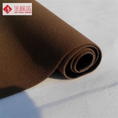 咖啡色针织长毛植绒布(E03.C1.0583)