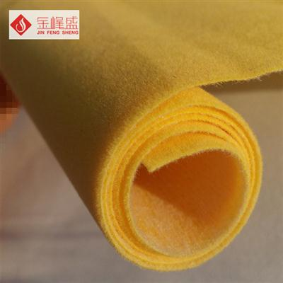黄色水刺短毛绒布(F01.D1.0399)