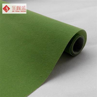 绿色无纺短毛植绒布(C01.D1.0493)