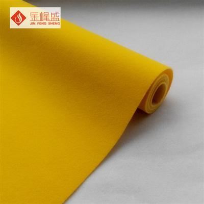 黄色水刺长毛植绒布(F01.C1.0653)