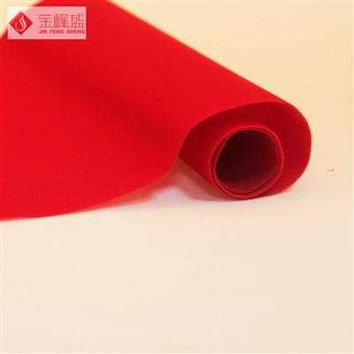 红色无纺短毛植绒布(A0-D01538)