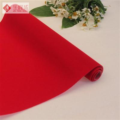红色水刺长毛植绒布(A01.C1.0028)