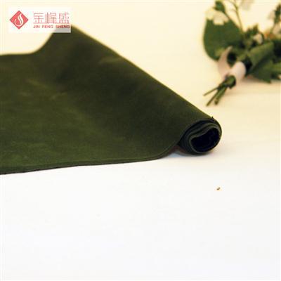绿色针织短毛植绒布(C03.D1.0469)