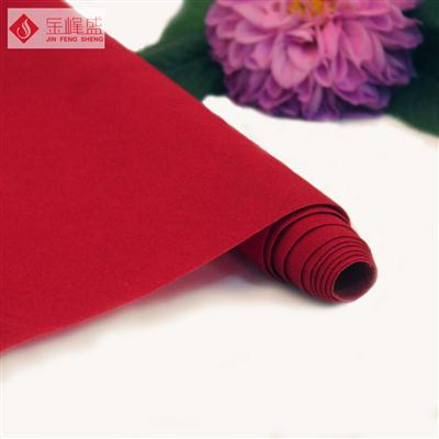 红色水刺短毛植绒布(A01.D1.0829)