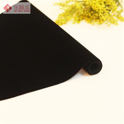 黑色水刺短毛植绒布(B1-905111)
