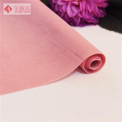 粉色水刺短毛植绒布(A01.D1.1352)