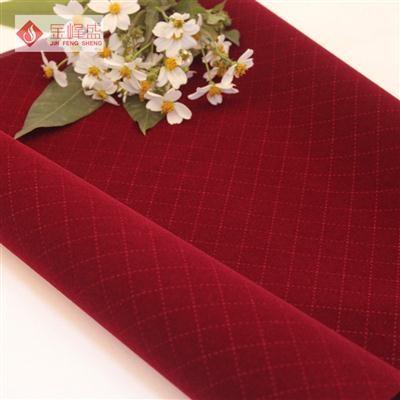 红色压花植绒布(A06.D3.0805)