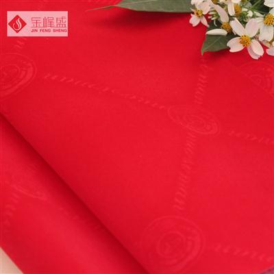 红色压花植绒布(A01.C3.0388)