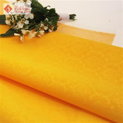 黄色压花植绒布