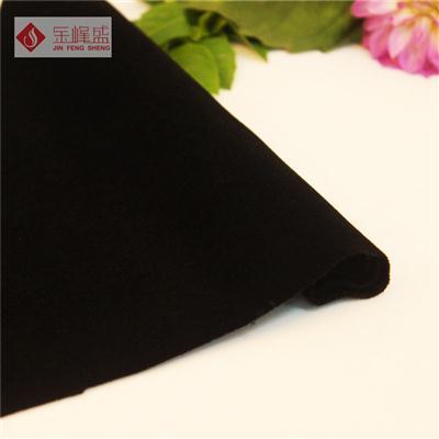 黑色针织短毛植绒布(B03.D1.0535)