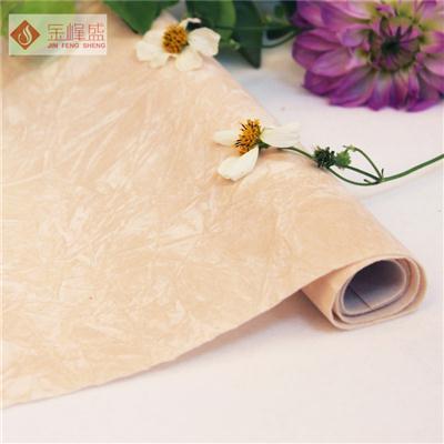 米黄色揉纹植绒布(F01.L1.0006)