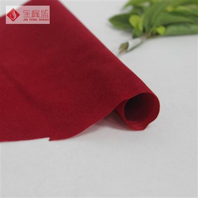 红色绸布短毛植绒布(W0001)