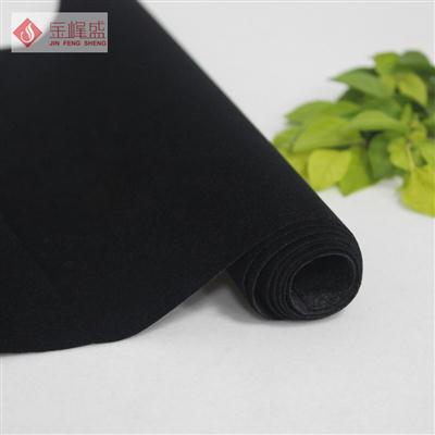 黑色水刺短毛植绒布(B01.D1.0071)