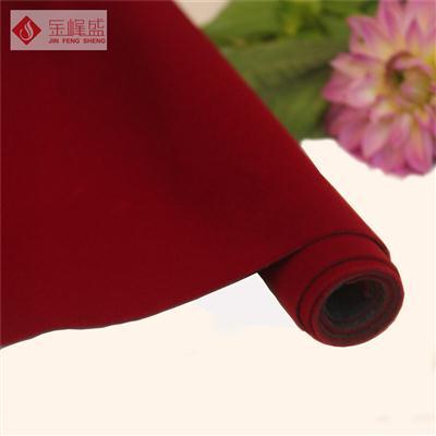 红色针织短毛植绒布(A03.D1.0430)