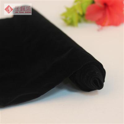 黑色棉布长毛植绒布(B04.C1.1377)