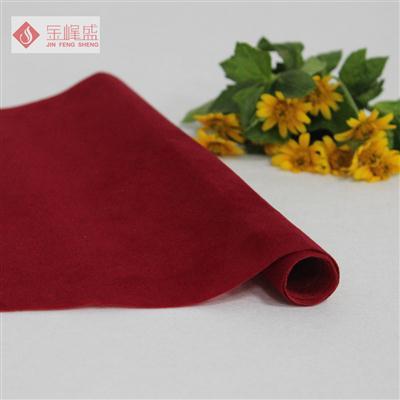 红色无纺短毛植绒布(A00.D1.0961)