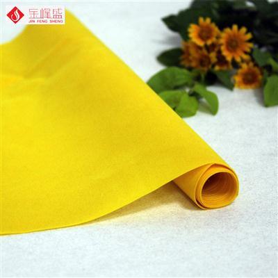 黄色绸布短毛植绒布(B-40#)