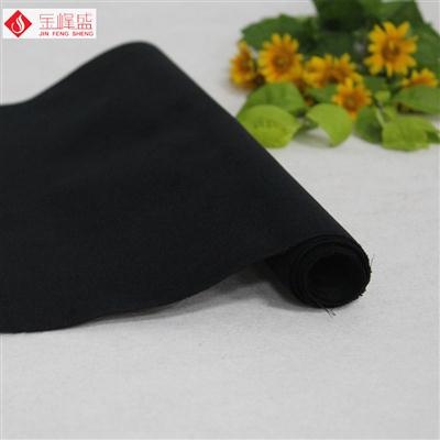 黑色绸布底短毛植绒布(B06.D1.0930)