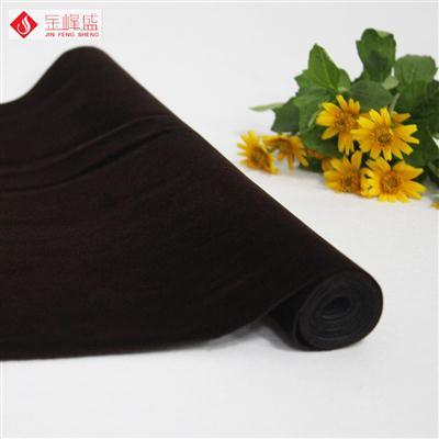 咖啡色针织底短毛植绒布(E03.D1.0848)
