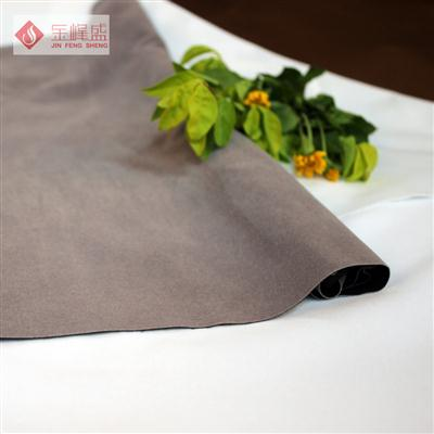 灰色棉布短毛植绒布(H4-P0595素面)