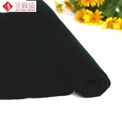 深墨绿色棉布底短毛植绒布(C4-204181)