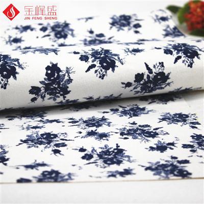 白色印花植绒布