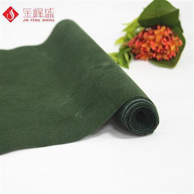 深绿色水刺底短毛植绒布(C01.D1.1328)