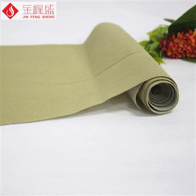 米黄色水刺短毛植绒布(F01.D1.0911)