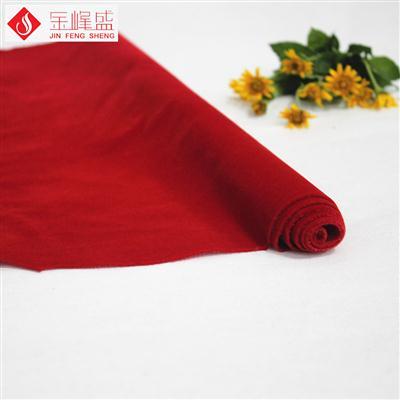 棉布底红色长毛植绒布(A04.C1.0019)