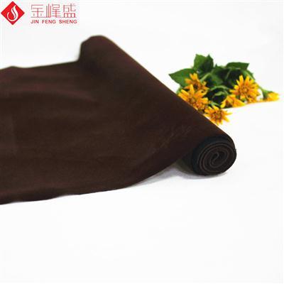 针织底咖啡色长毛植绒布(E03.C1.0072)