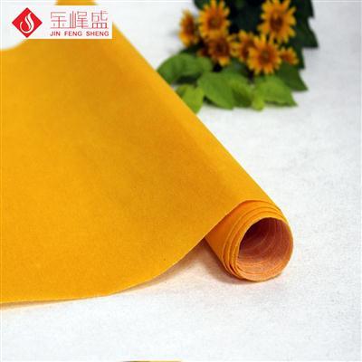 橙黄色无纺短毛植绒布(F00.D1.0632)