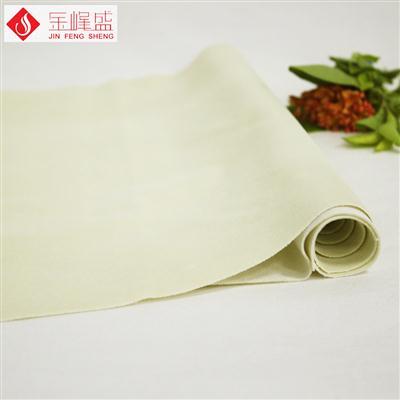 米黄色棉布底长毛植绒布(F04.C1.0908)