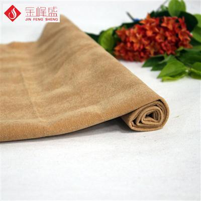 米黄色棉布底PP珠粒植绒布(F04.P1.0654)