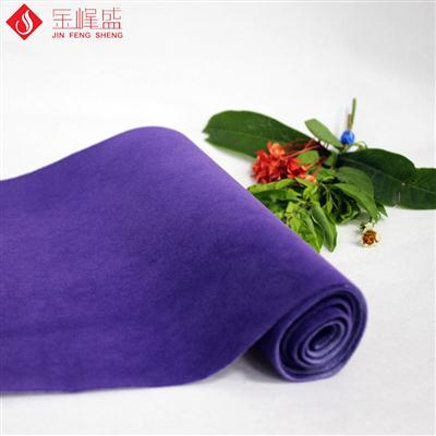 紫色水刺长毛植绒布(K01.C1.0075)