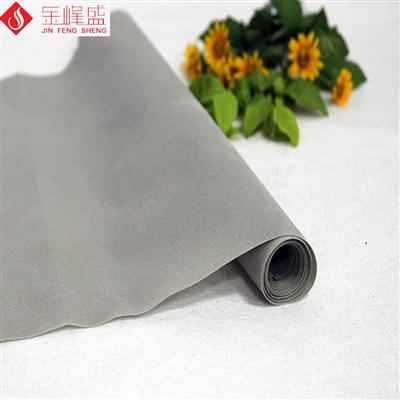 灰色绸布底短毛植绒布(H6-002)