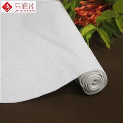 棉布底白色珠粒PP植绒布