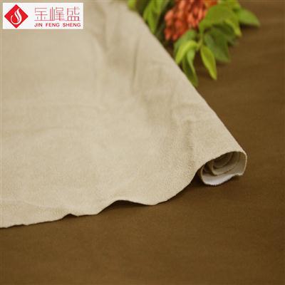 米黄色棉布底珠粒PP植绒布(F04.P1.0880)