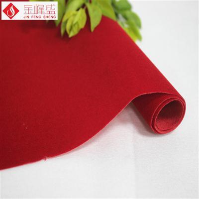 剪纸植绒布 红色无纺短毛植绒布