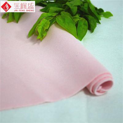 化妆品包装袋植绒布 针织底粉红色长毛植绒布(A03.C1.1604)