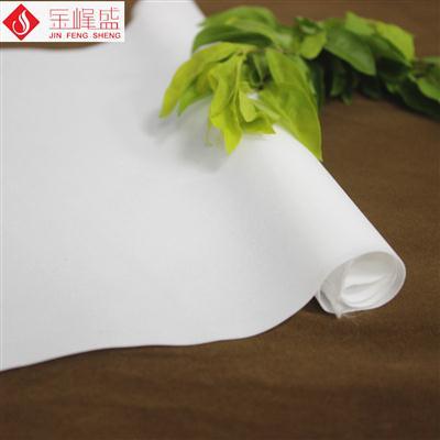 白色绸布短毛植绒布 超薄型 (G06.D1.0579)