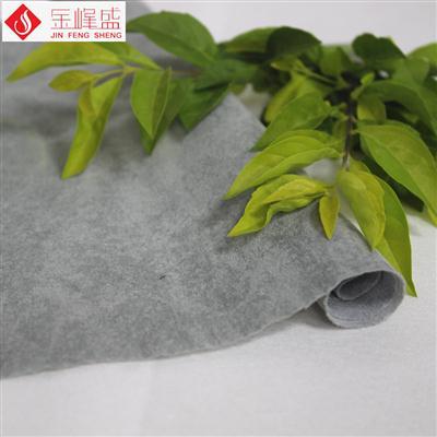 深灰色(偏绿)水刺揉纹植绒布(H01.L1.1588)