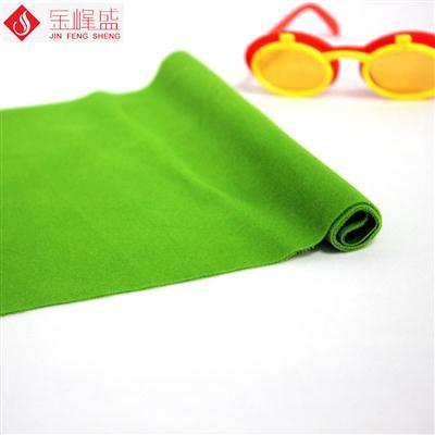 绿色针织短毛植绒布(C03.D1.1554)