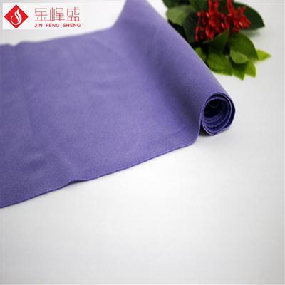 紫色针织底短毛植绒布(K03.D1.1555)