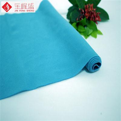 青蓝色针织短毛植绒布(D03.D1.1557)
